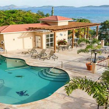 Grande Bay Resort Pool Deck, Cruz Bay St John Virgin Islands